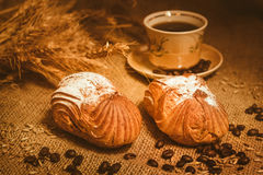Pane e licenziare con il caffè Immagine Stock Libera da Diritti