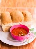 Pane e minestra Fotografie Stock Libere da Diritti