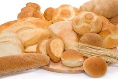 Pane e panini nella bella esposizione. Fotografia Stock Libera da Diritti