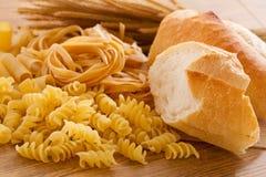 Pane e pasta del carboidrato fotografie stock