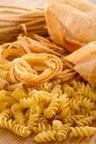 Pane e pasta del carboidrato fotografia stock libera da diritti