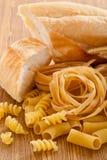 Pane e pasta del carboidrato fotografie stock libere da diritti