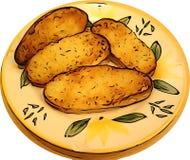 Pane e piatto fotografie stock libere da diritti