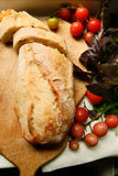 Pane e pomodori di dieta di Vegeterian Fotografie Stock Libere da Diritti