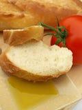 Pane e pomodoro dell'olio di oliva Fotografie Stock Libere da Diritti