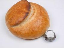 Pane e sale. fotografie stock