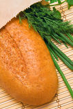 Pane e verdi immagini stock libere da diritti