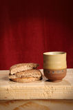 Pane e vino Fotografia Stock Libera da Diritti