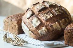 Pane ed orecchie rustici saporiti di grano Immagini Stock Libere da Diritti