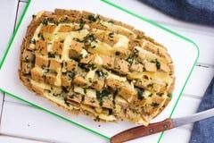 Pane farcito con formaggio Fotografia Stock