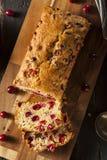 Pane festivo casalingo del mirtillo rosso Fotografie Stock