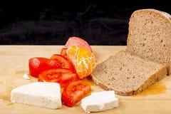 Pane, formaggio, pomodoro Immagini Stock