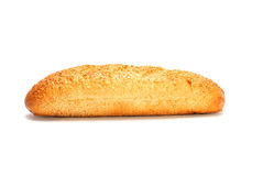 Pane francese isolato su bianco Fotografie Stock