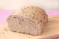 Pane integrale con i semi Fotografia Stock