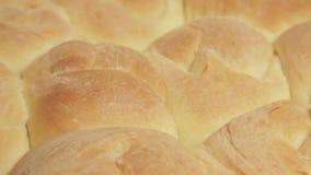 Pane integrale fresco fresco dal forno video d archivio