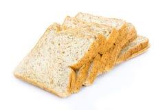 Pane integrale isolato su fondo bianco Immagini Stock Libere da Diritti