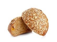 Pane integrale isolato su fondo bianco Fotografie Stock Libere da Diritti
