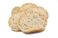 Pane integrale, isolato su fondo bianco Fotografie Stock Libere da Diritti