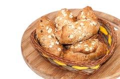 Pane integrale sano della farina dei semi di cereali destinati all'alimentazione Fotografia Stock Libera da Diritti