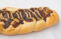 Pane intrecciato con la salsiccia Fotografie Stock