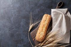 Pane italiano di ciabatta Fotografie Stock