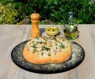 Pane italiano di Focaccia del rosmarino fotografie stock