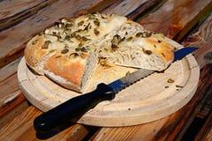 Pane italiano di Focaccia del rosmarino immagine stock