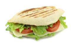 Pane italiano tostato con il panino del formaggio Fotografia Stock