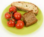 Pane Mediterraneo e pomodoro di dieta immagine stock libera da diritti