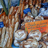 Pane. MERCATO DEL PANE IN PROVENZA Royalty Free Stock Photography