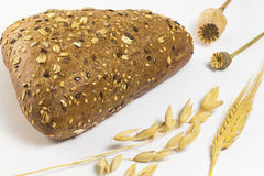 Pane nero con i semi di sesamo ed i semi di girasole Immagini Stock