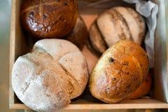 Pane in scatola di legno Fotografia Stock