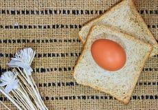 Pane sulla tavola di legno Fotografie Stock