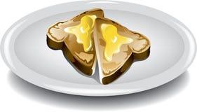 Pane tostato affettato Immagini Stock