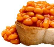 Pane tostato al forno britannico del fagiolo Fotografia Stock