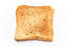 Pane tostato al forno isolato su bianco Fotografia Stock Libera da Diritti