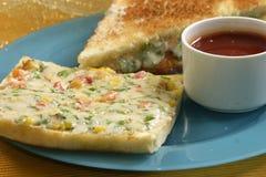 Pane tostato arrostito del formaggio Fotografia Stock Libera da Diritti