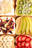 Pane tostato assortito della prima colazione Fotografia Stock Libera da Diritti