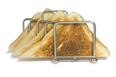 Pane tostato bianco Fotografie Stock