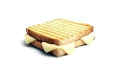 Pane tostato con cheddar Fotografie Stock Libere da Diritti