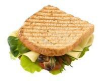 Pane tostato con formaggio, i funghi e le verdure. Fotografia Stock Libera da Diritti
