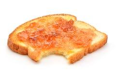 Pane tostato con inceppamento Fotografia Stock Libera da Diritti