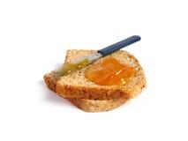 Pane tostato con marmellata d'arance Fotografia Stock