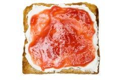 Pane tostato con ostruzione Fotografia Stock