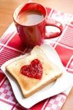 Pane tostato con ostruzione Immagini Stock Libere da Diritti