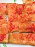Pane tostato con ostruzione Immagine Stock Libera da Diritti