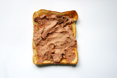 Pane tostato con patè Fotografia Stock