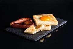 Pane tostato con un cuore Fotografie Stock