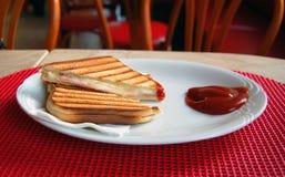Pane tostato croccante Immagini Stock Libere da Diritti
