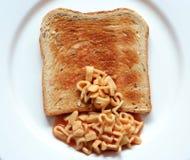 Pane tostato degli spaghetti Immagini Stock